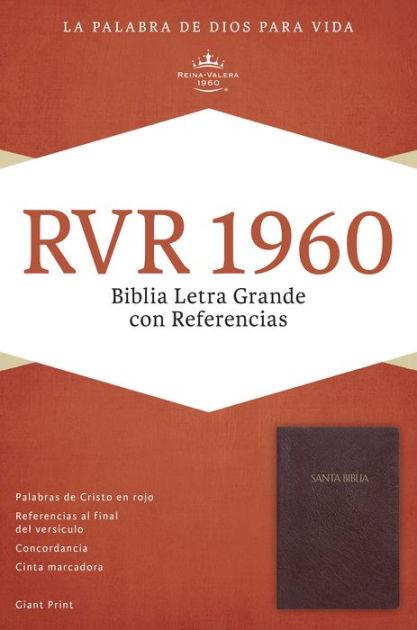 RVR 1960 Biblia Letra Grande con Referencias, borgoña imitac