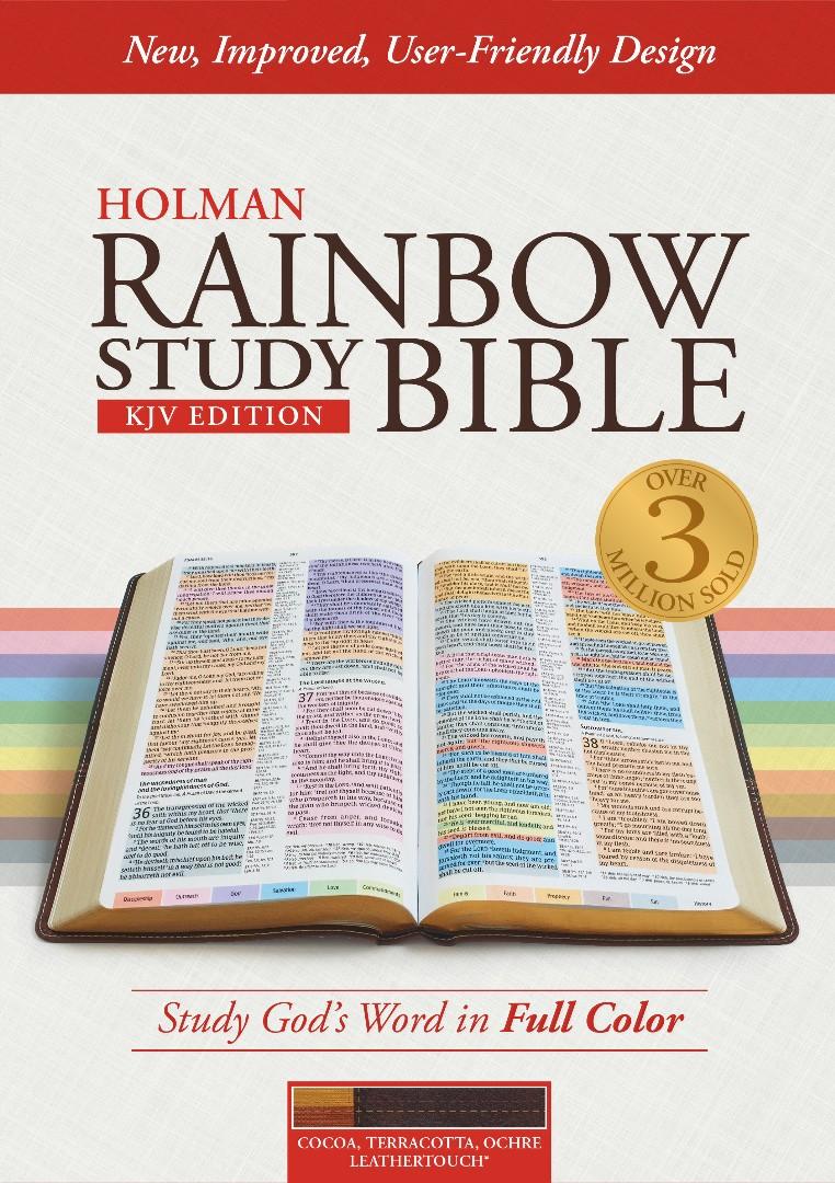 KJV Rainbow Study Bible, Cocoa/Terra Cotta, Indexed