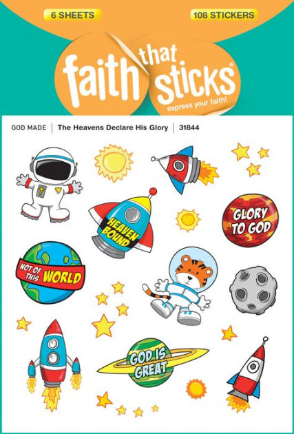 Heavens Declare His Glory, The - Faith That Sticks Stickers