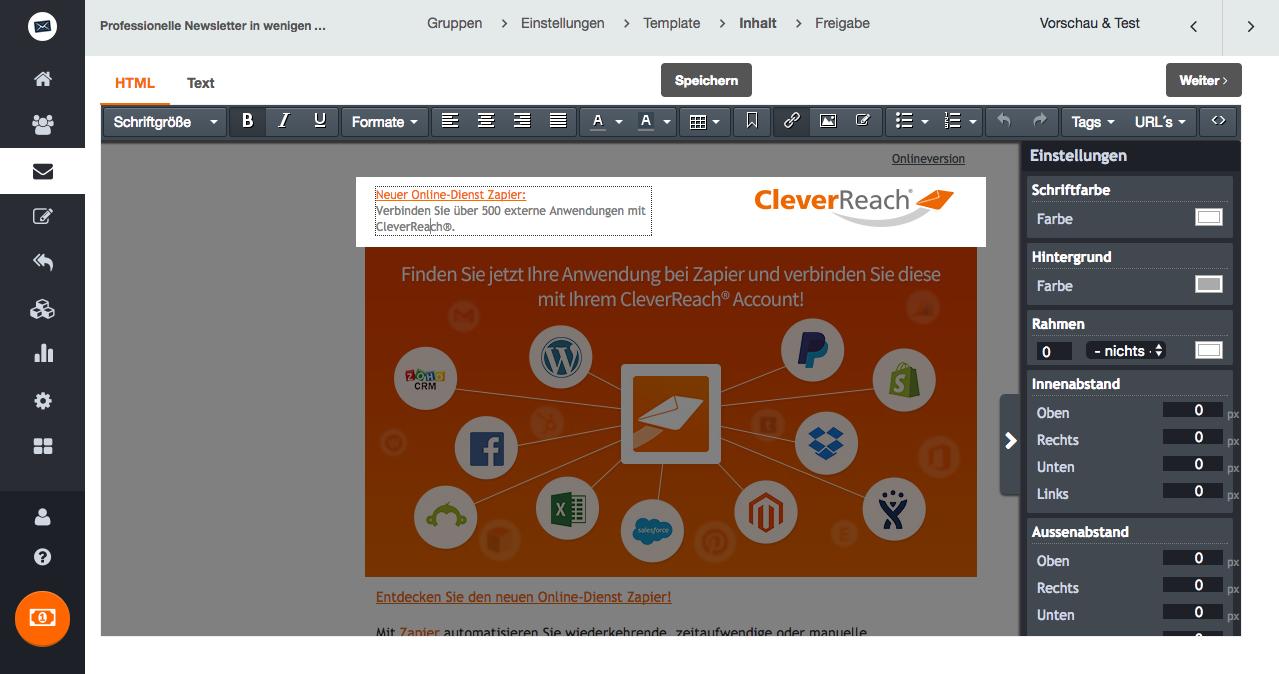 Welche Vorteile habe ich, wenn ich die kostenlosen Templates von CleverReach® nutze?