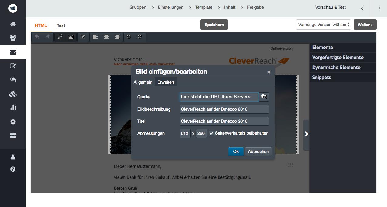 """screenshot: Daraufhin öffnet sich die Eigenschaftsmaske des Bildes. Klicken Sie auf """"Upload"""", damit sich die Bilderverwaltung öffnet."""