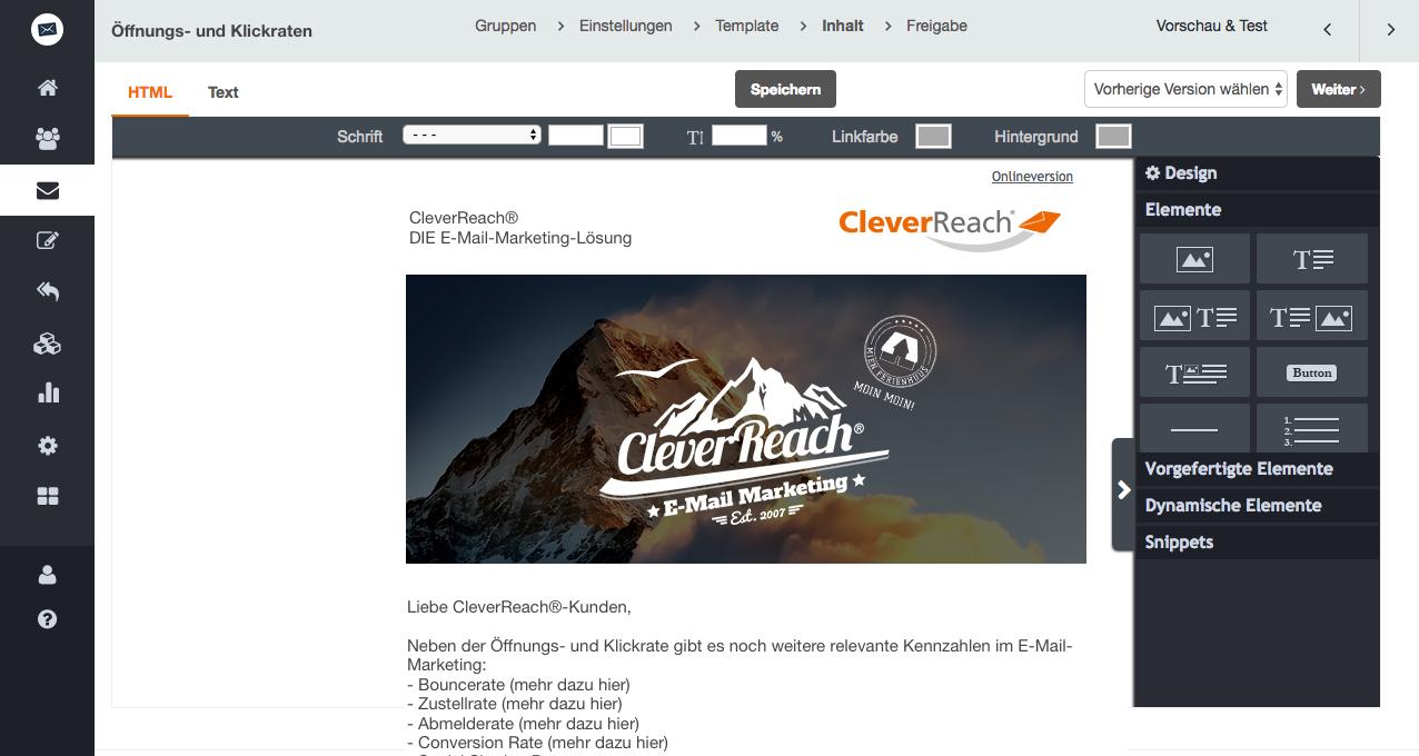 screenshot: Neben der Öffnungs- und Klickrate gibt es noch weitere relevante Kennzahlen im E-Mail-Marketing