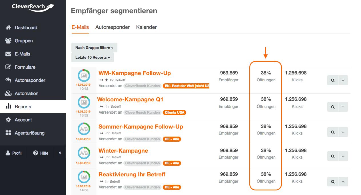 screenshot: Holen Sie durch gezielte Ansprache Ihrer Empfänger das Optimum aus Ihrem Newsletter-Marketing heraus