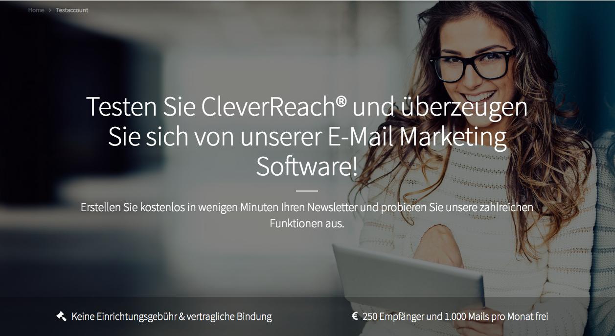 screenshot: A/B-Split-Testing mit CleverReach®