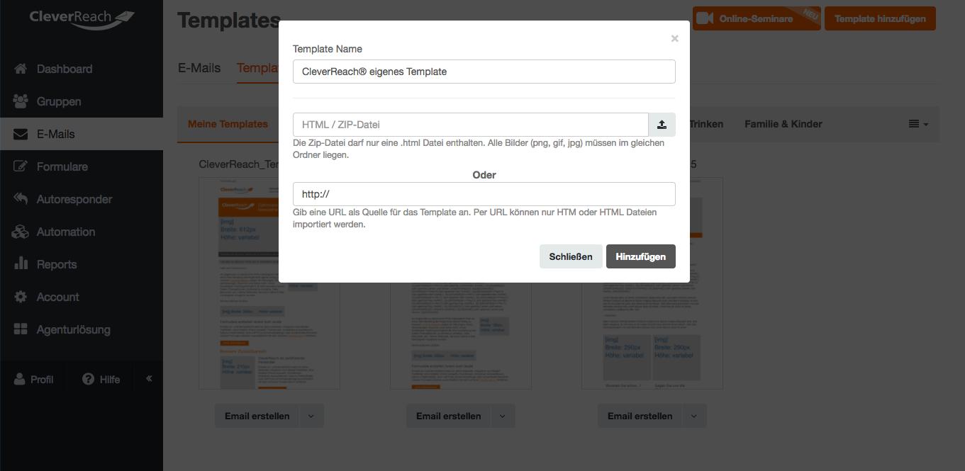 screenshot: So erstellen Sie selbst Ihr Newsletter-Template