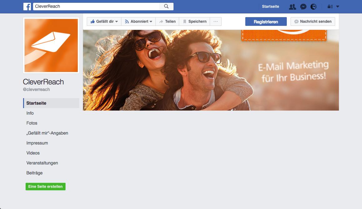 screenshot: Newsletter und Social Media: sinnvolle Verknüpfung für mehr Reichweite