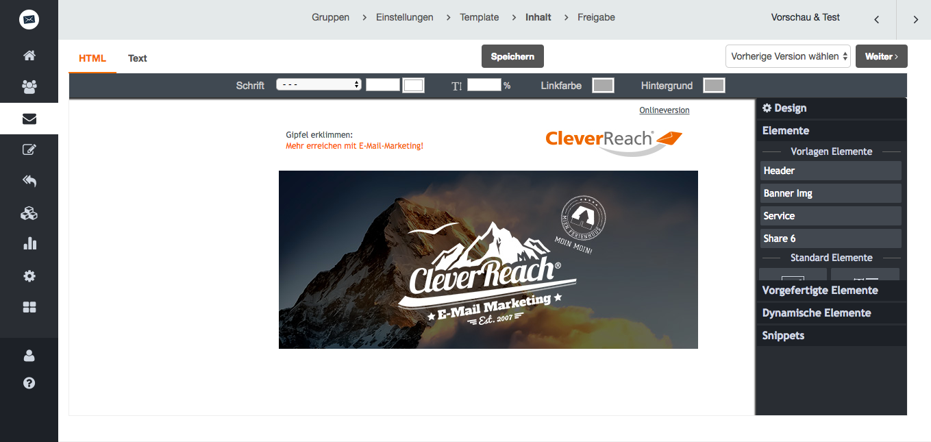screenshot: Mit Hilfe unserer Shop-Schnittstellen wird Ihr Newsletter automatisch mit Produktbildern aus Ihrem Angebot gefüllt.