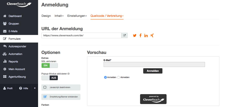 screenshot: SSL-Verschlüsselung - mehr Datensicherheit für Ihre Newsletter-Formulare