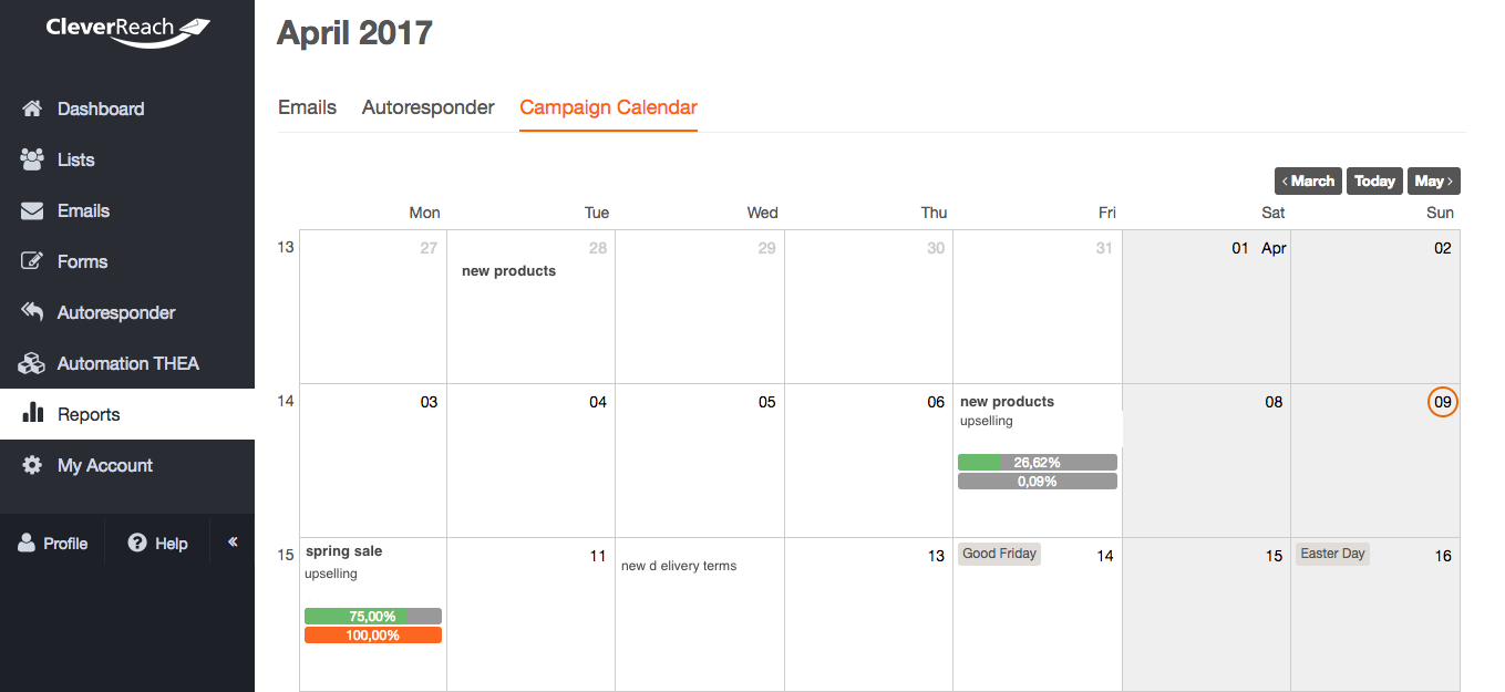 screenshot: When to send your newsletter