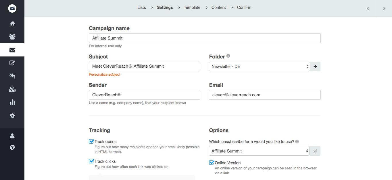 screenshot: Choosing the right return address