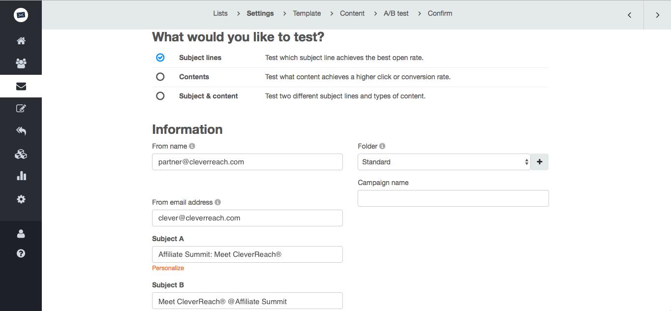 screenshot: Optimize your subject line