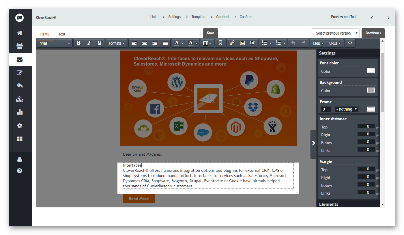 With our CleverReach® newsletter editor you can easily optimize every detail of your newsletter