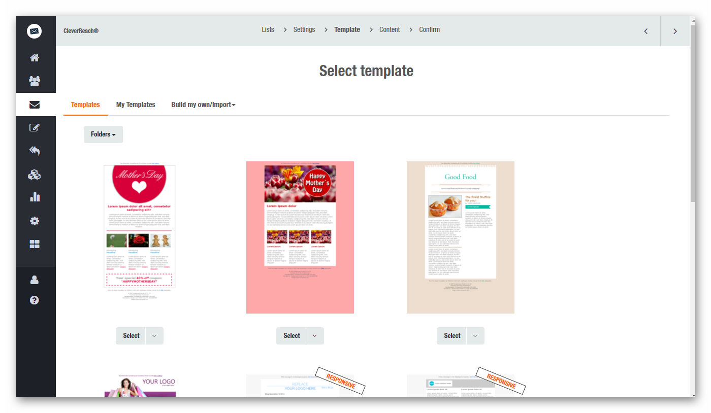 Our easy-to-handle drag and drop editor helps you tailor every template to your needs