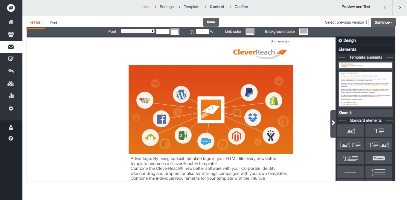 screenshot: Cleverreach®