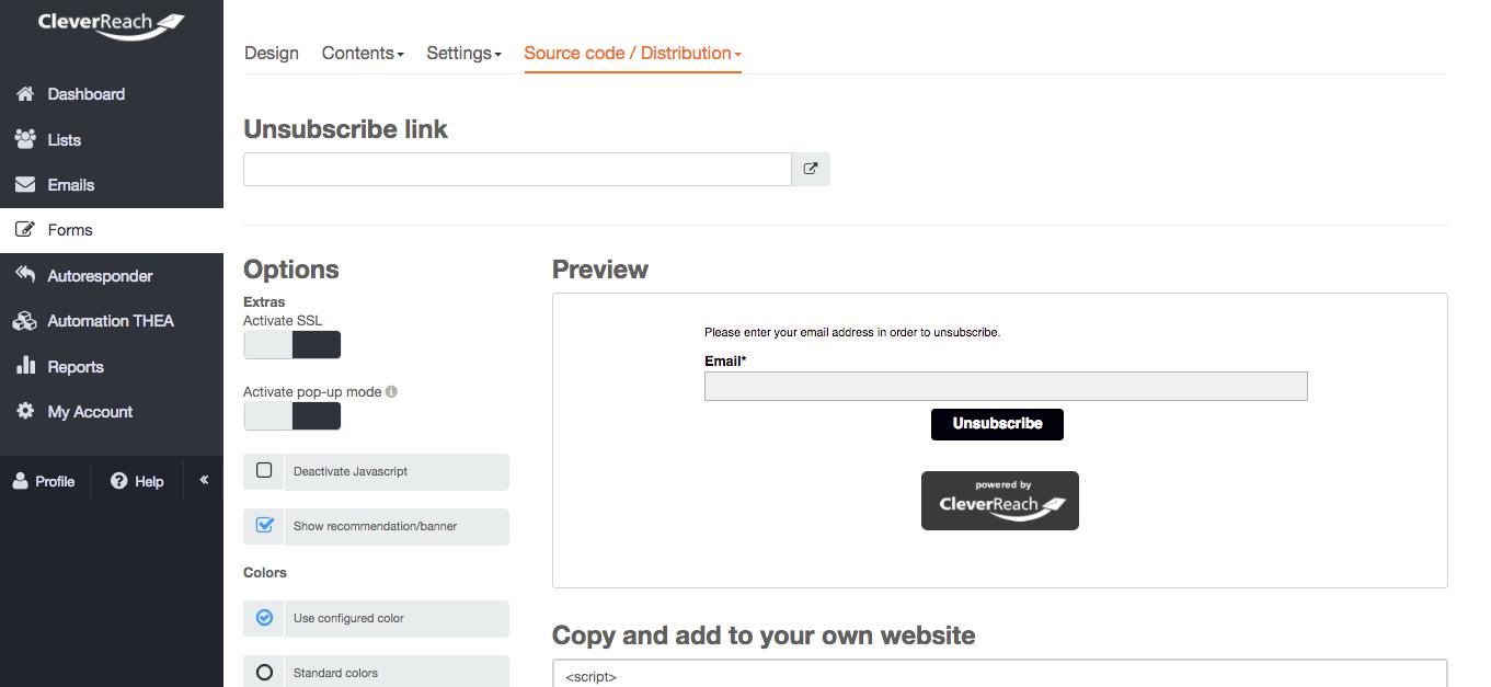 screenshot: Make unsubscribing as easy as possible