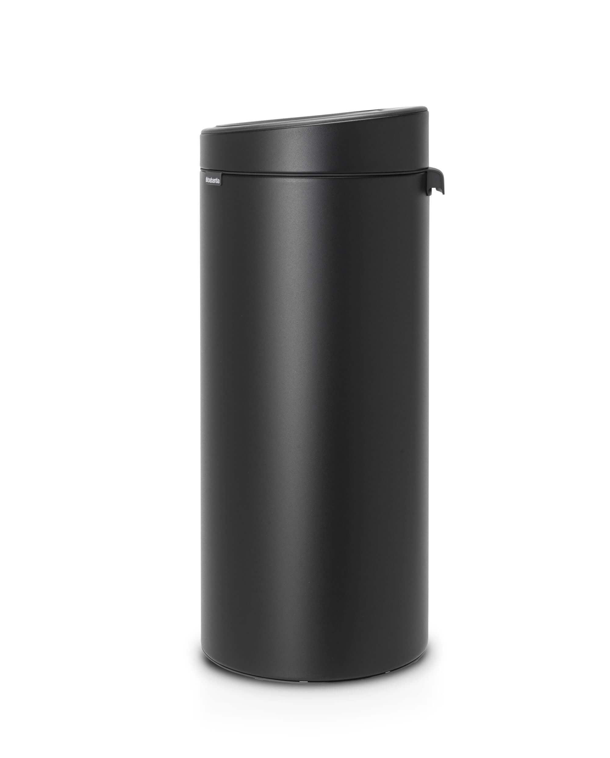 Brabantia Touch Bin Zwart 30 Liter.Brabantia Touch Bin 30 Liter Mineral Moonlight Black Brabantia Touch Bin 30 Liter Mineral Moonlight Black