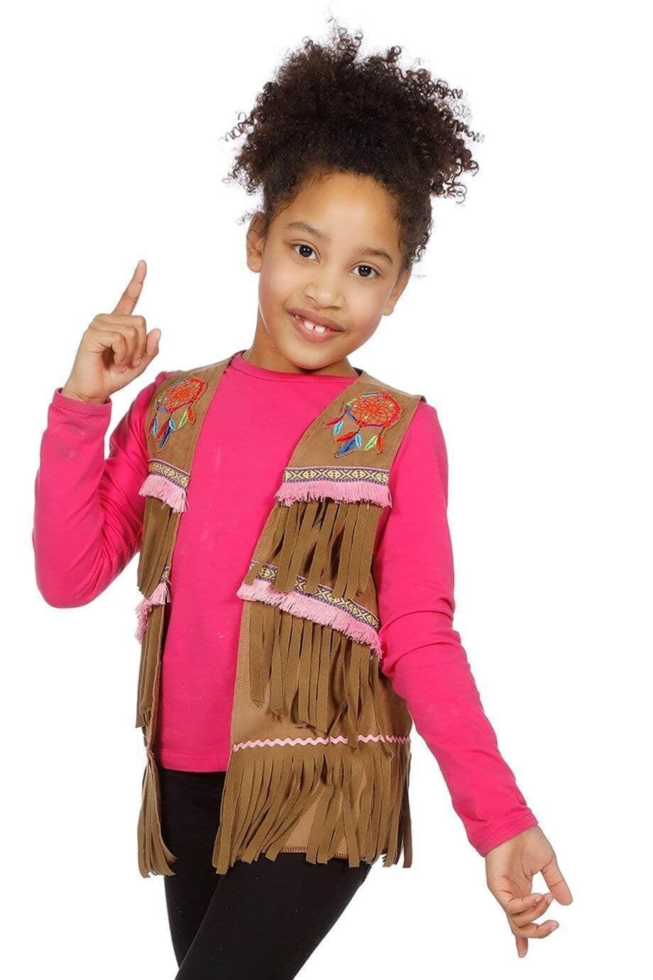 Hesje indianenmeisje/hippie
