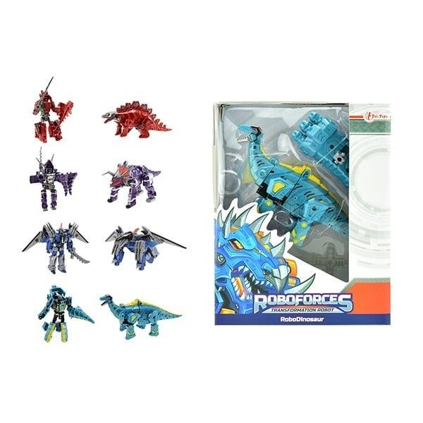 Dinosaurus verranderrobot in vensterdoos
