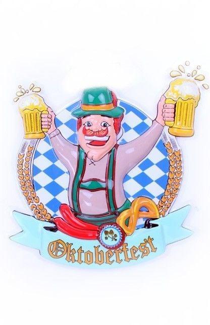 Deco Oktoberfest man met bierpullen