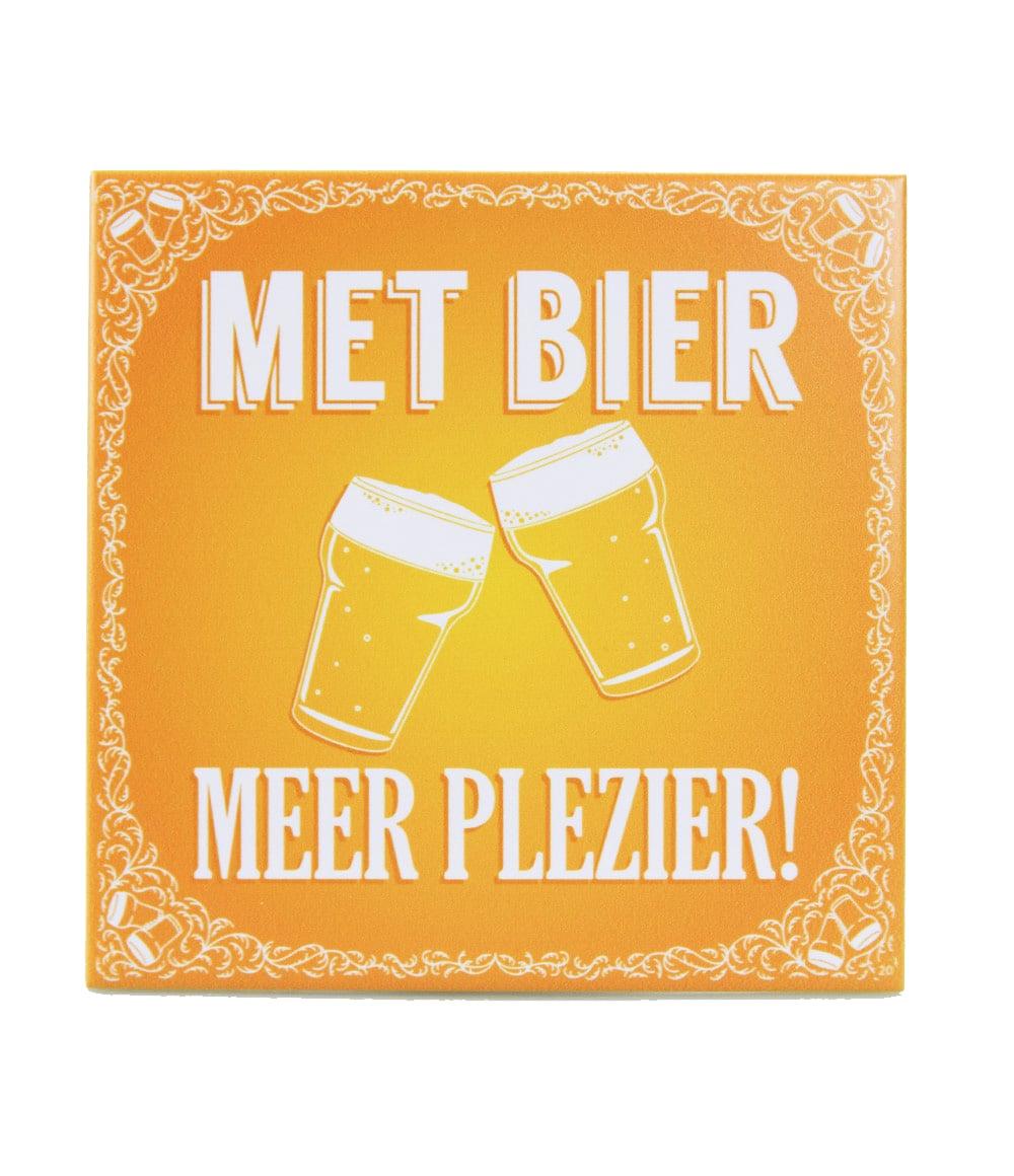 Slogan tegel Met bier meer plezier
