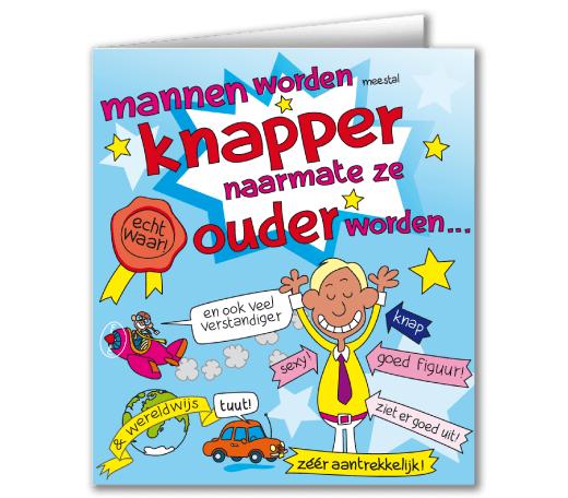 Wenskaarten - mannen cartoon