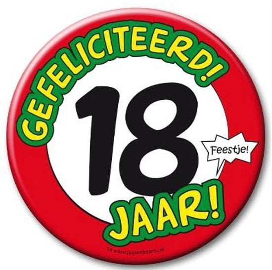 Button XL - 18 jaar