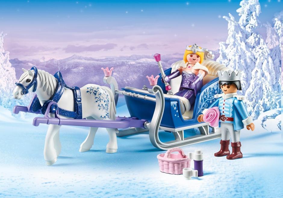Playmobil koninklijk paar met slee coppens warenhuis