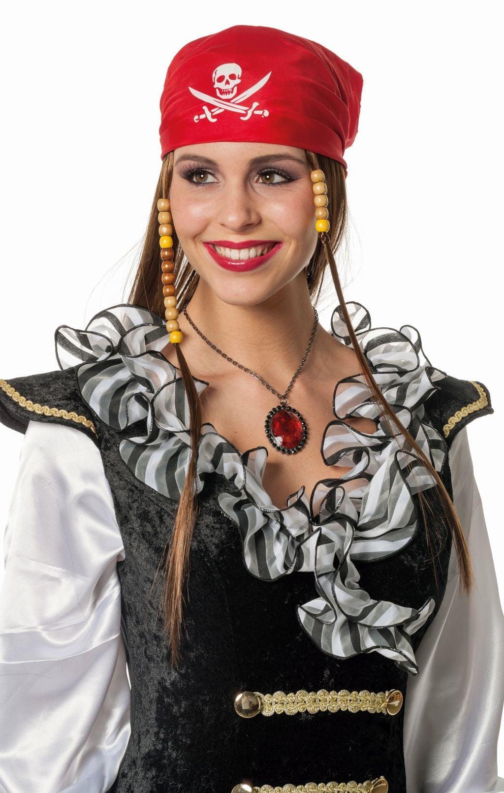 Piratenpruik met kapje