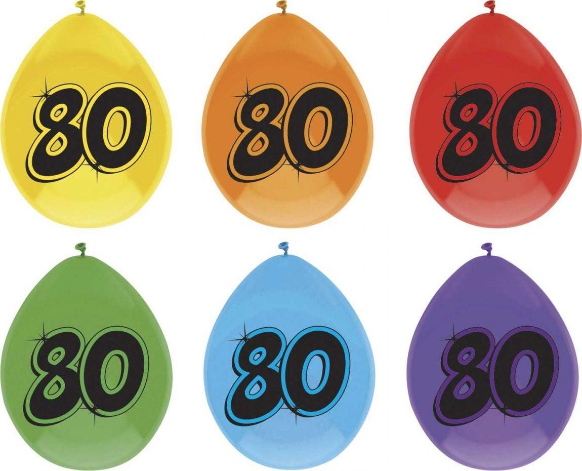Ballon leeftijd 6 stuks 80 jaar