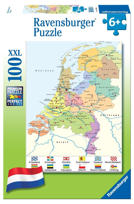 100 Stuks Puzzel Kaart van Nederland