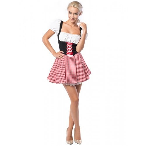Dirndl Eva black/red