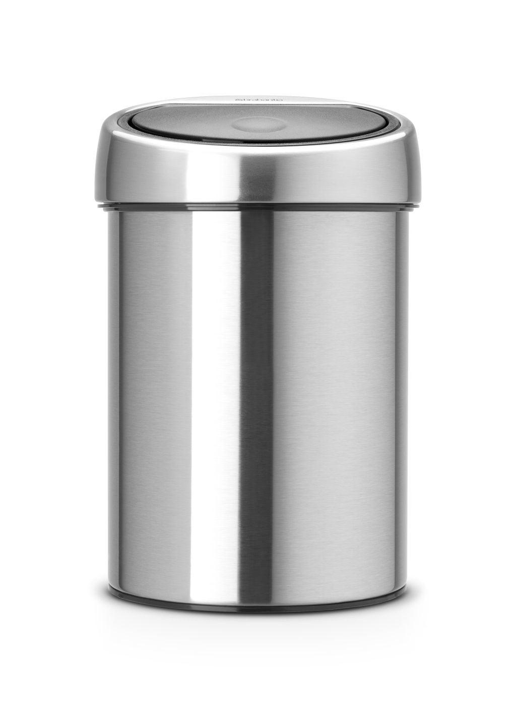 Afvalbak Brabantia Wandafvalemmertje Touch 3 liter, Mat-RVS FPP