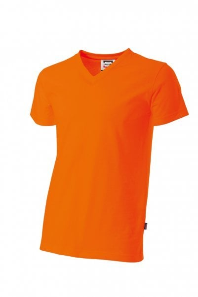 T-shirt herenv-hals slim-fit Orange