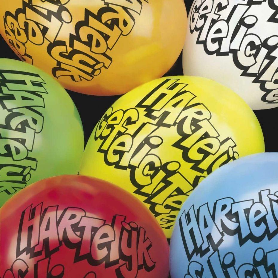 Ballonnen 10 stuks Hartelijk Gefeliciteerd