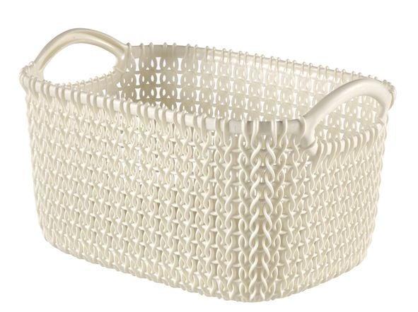 Curver knit mandje rechthoekig oasis white 3 liter