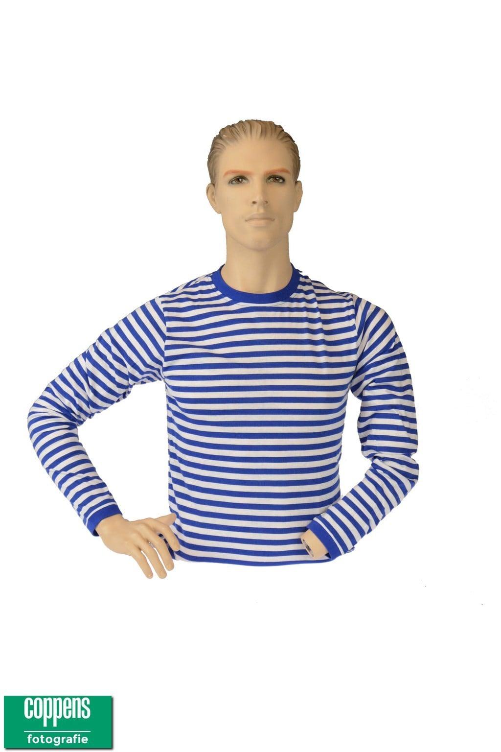 gestreept t shirt blauw wit