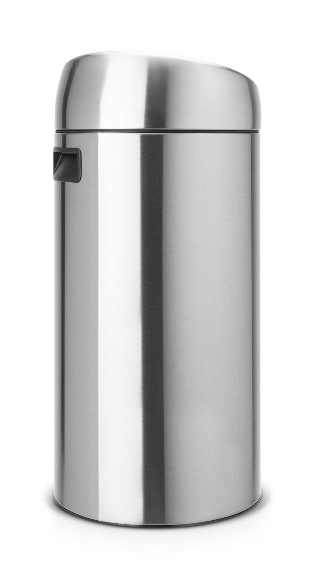 Touch Bin 45 Liter.Brabantia Touch Bin 45 Liter Matt Steel Coppens Warenhuis