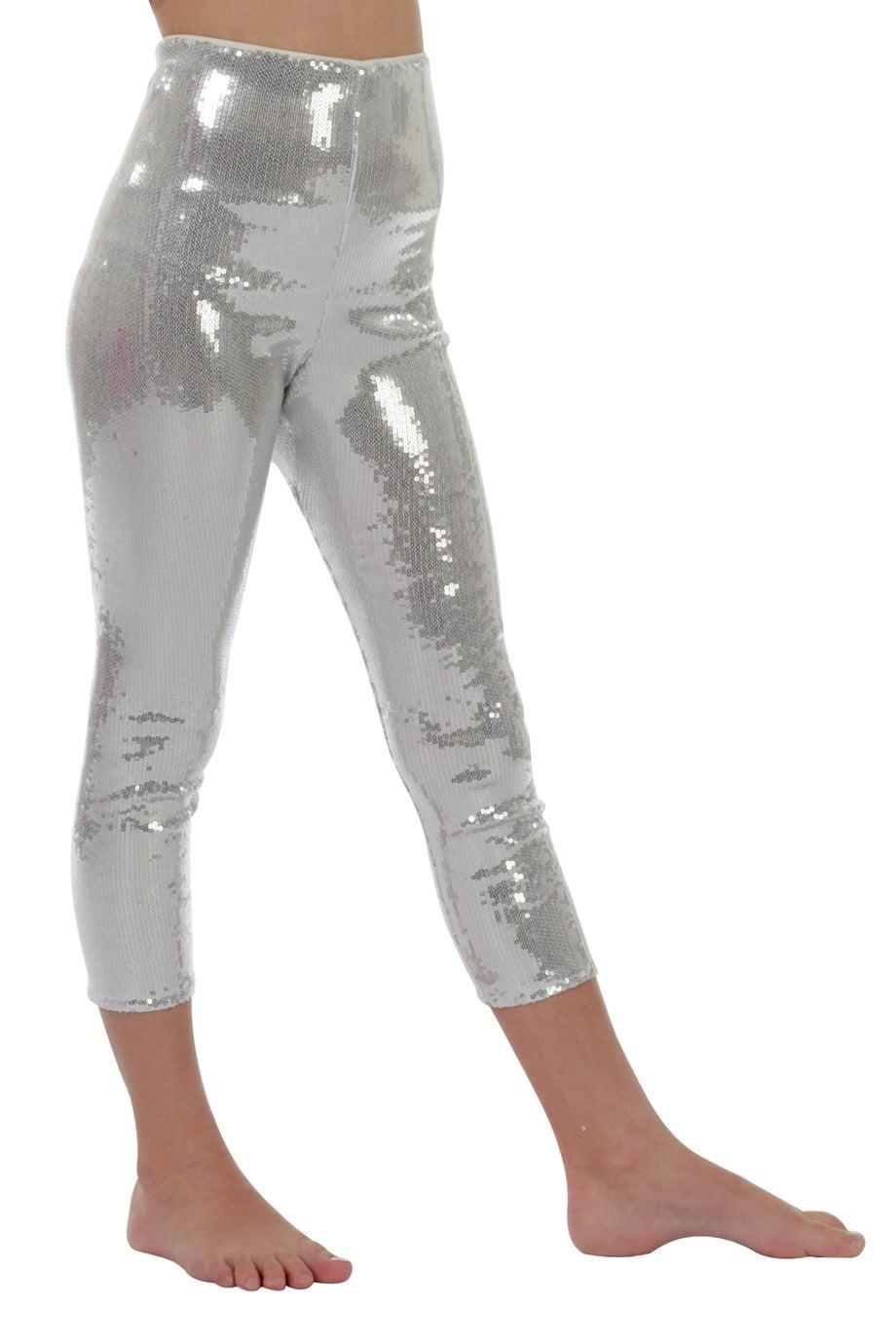 Legging pailletten zilver