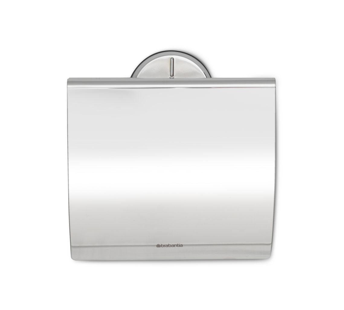 Brabantia Toiletrolhouder met Klep Brilliant Steel