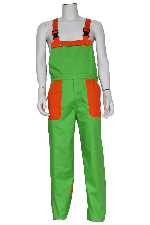Tuinbroek kinderen poly/katoen groen / oranje