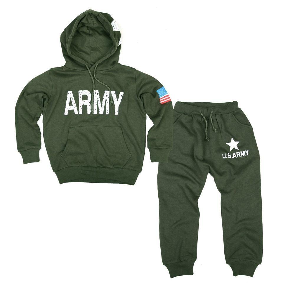 Kinder army hoodie set