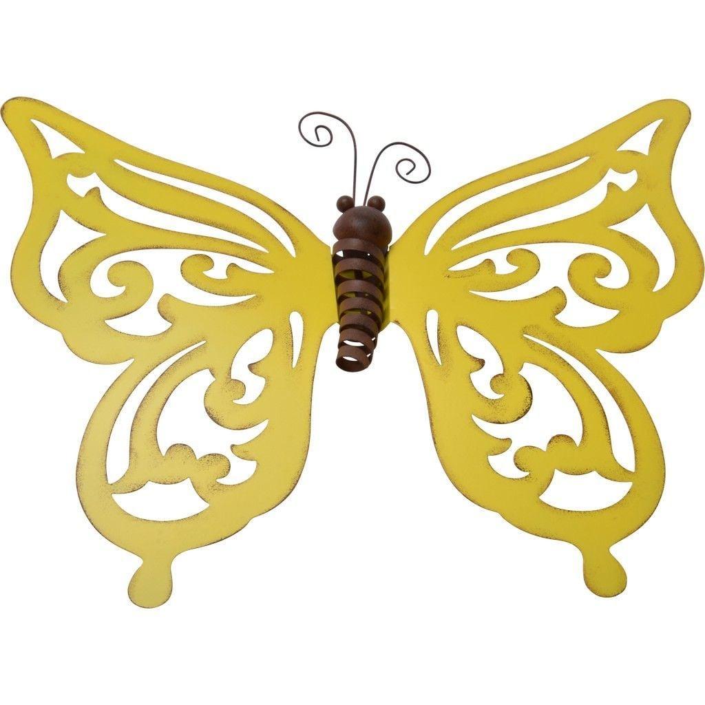 Lesli Vlinder geel groot