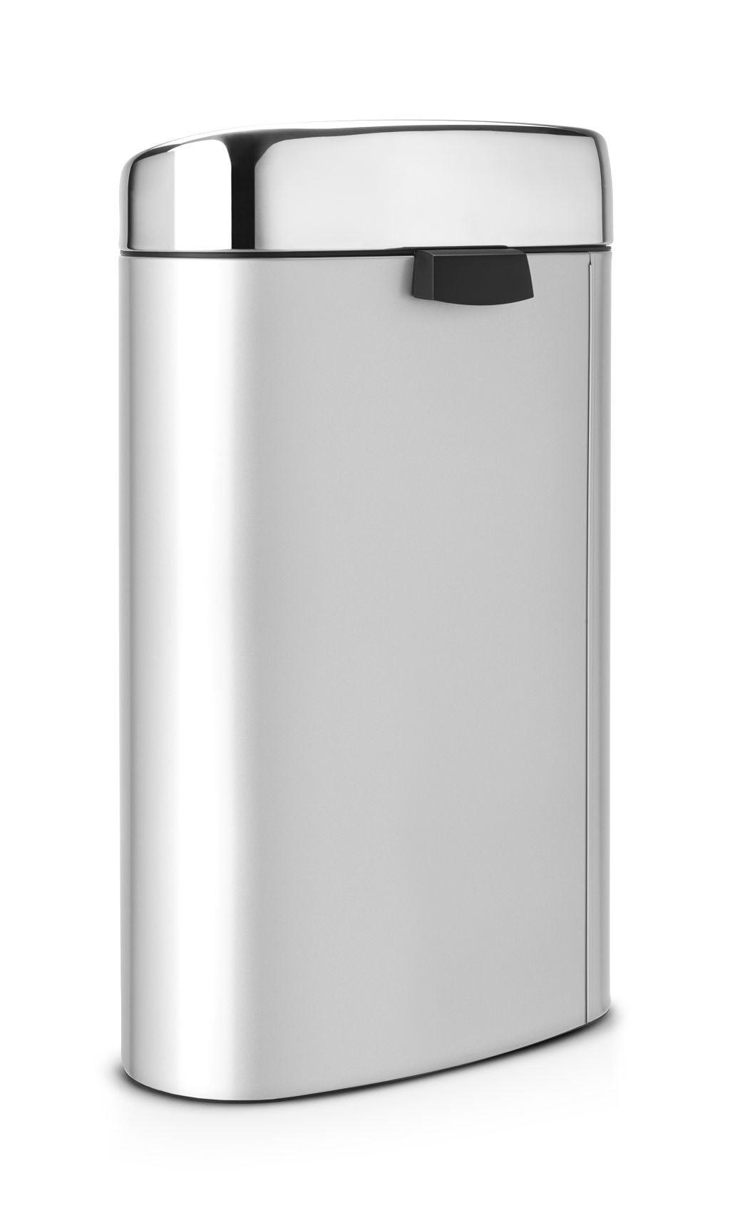 Brabantia Prullenbak 40 Liter.Brabantia Touch Bin 40 Liter Metallic Grey Brilliant Steel Deksel Brabantia Touch Bin 40 Liter Metallic Grey Brilliant Steel Deksel