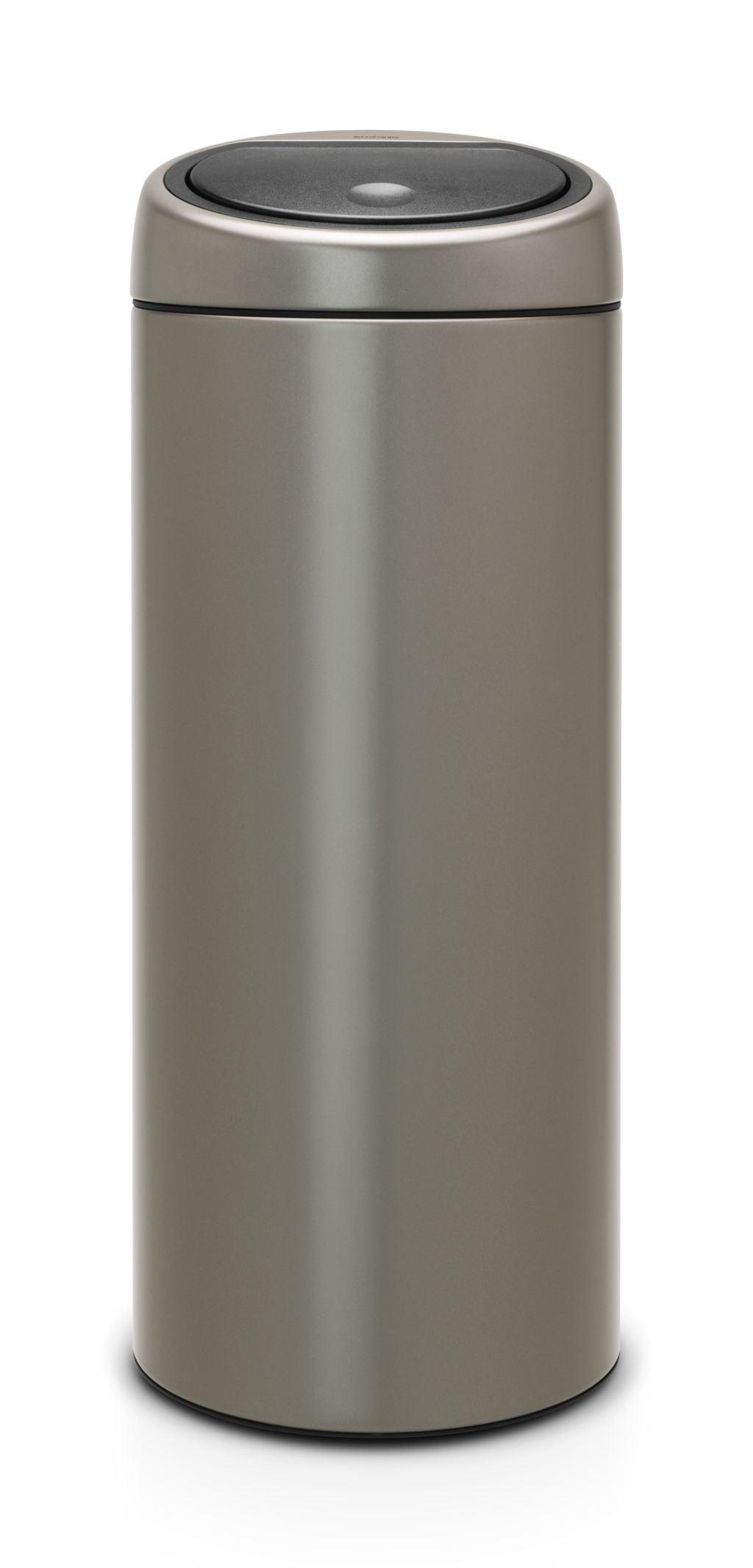 Brabantia Touch Bin Afvalverzamelaar 30 Liter.Brabantia Afvalverzamelaar 30 Liter Touch Bin Platinum Brabantia Afvalverzamelaar 30 Liter Touch Bin Platinum