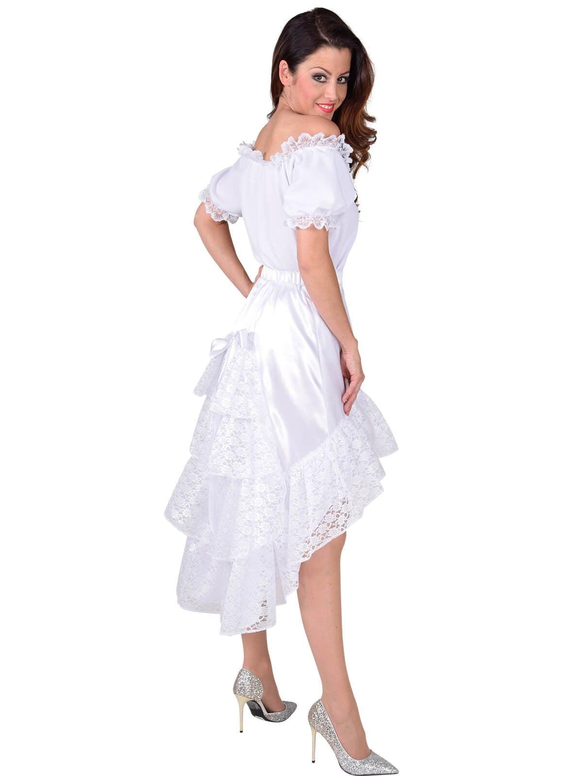 6379032d520991 Luxe satijn rok met kant wit