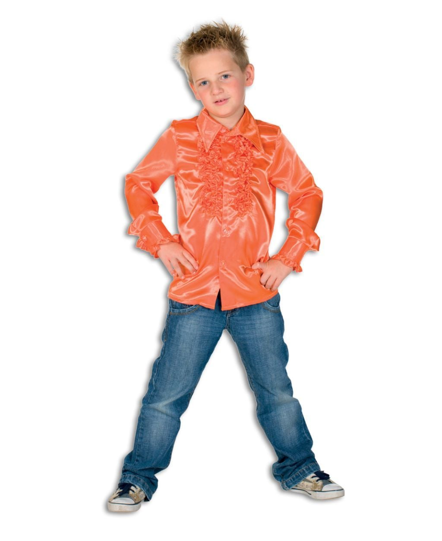 Kinder Ruche Blouse Oranje