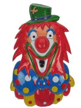Wanddeco clown met groene hoed