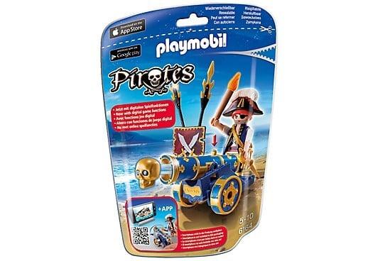 Playmobil Pirates officier met blauw kanon 6164