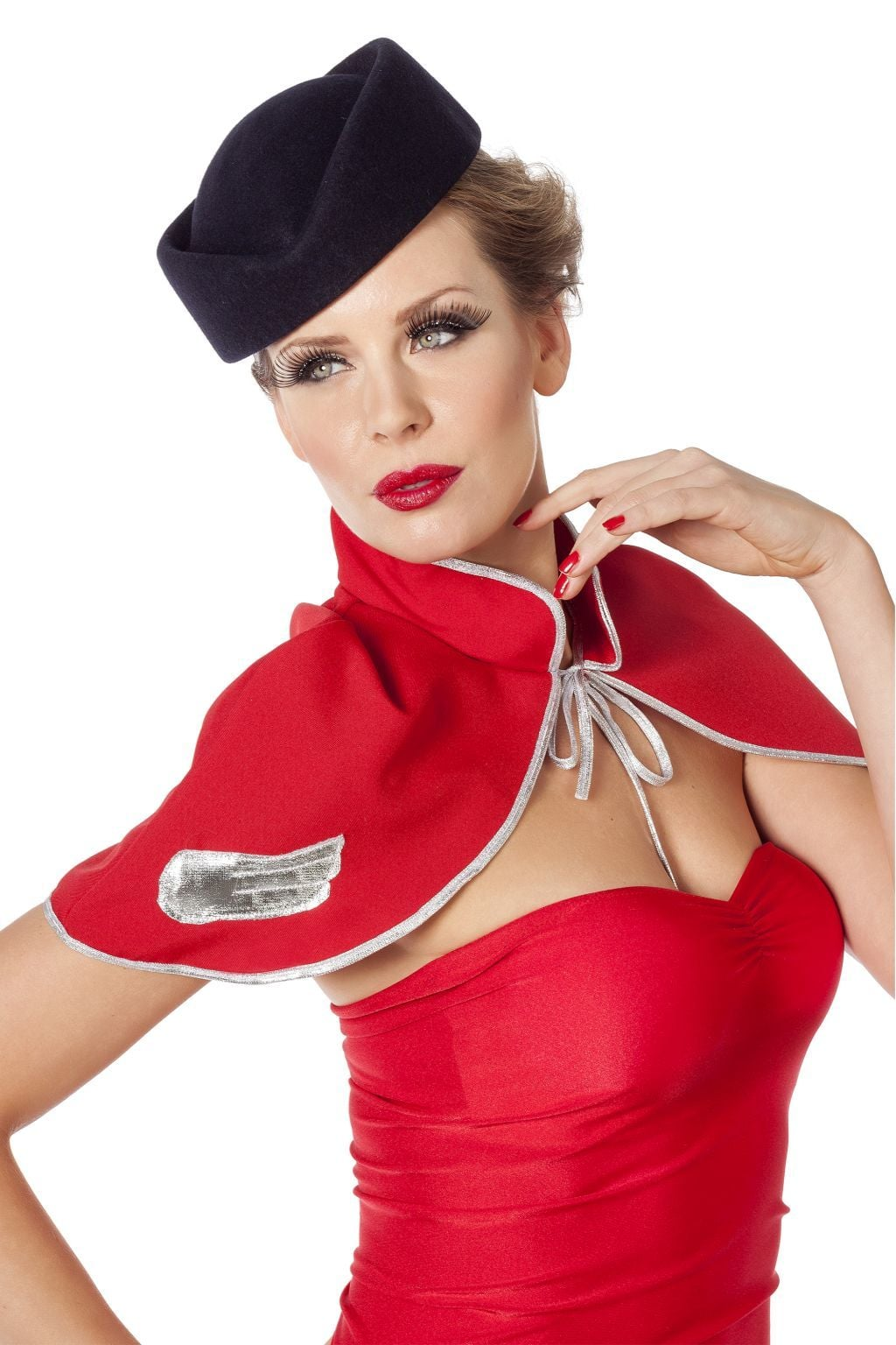 Hoed stewardess blauw