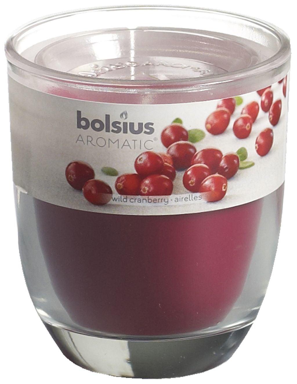 Bolsius Geurglas 80-70 Wild Cranberry Stuk